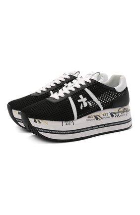 Женские комбинированные кроссовки beth PREMIATA черного цвета, арт. BETH/VAR5223   Фото 1