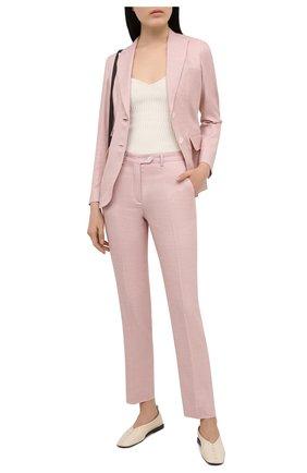 Женские брюки KITON розового цвета, арт. D49109K09T26 | Фото 2