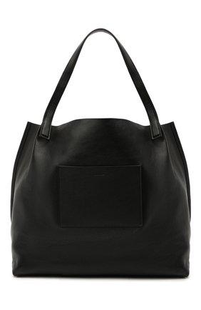Женский сумка-шопер origami JIL SANDER черного цвета, арт. JSPS851513-WSB00076 | Фото 1