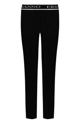 Женские брюки ERMANNO FIRENZE черного цвета, арт. D38ET PL30CRE | Фото 1