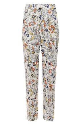 Женские хлопковые брюки ERMANNO FIRENZE разноцветного цвета, арт. D38ET PL10PFE | Фото 1