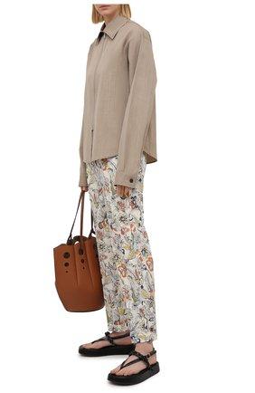 Женские хлопковые брюки ERMANNO FIRENZE разноцветного цвета, арт. D38ET PL10PFE | Фото 2