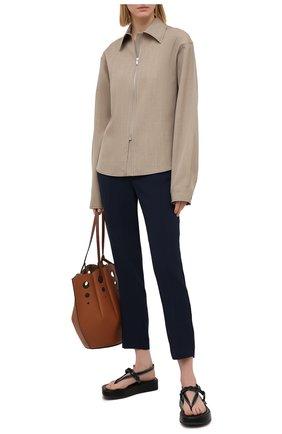 Женские брюки ERMANNO FIRENZE синего цвета, арт. D38ET PL08CRE | Фото 2