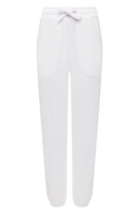Женские хлопковые джоггеры ERMANNO FIRENZE белого цвета, арт. D38ET PL07FEL | Фото 1