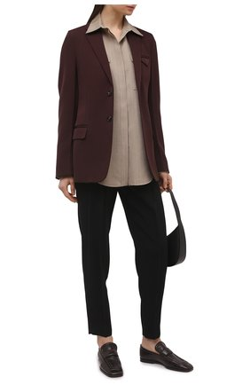 Женские брюки ERMANNO FIRENZE черного цвета, арт. D38ET PL05CRE | Фото 2