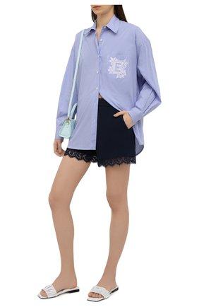 Женские шорты ERMANNO FIRENZE синего цвета, арт. D38ET PC06CRE | Фото 2