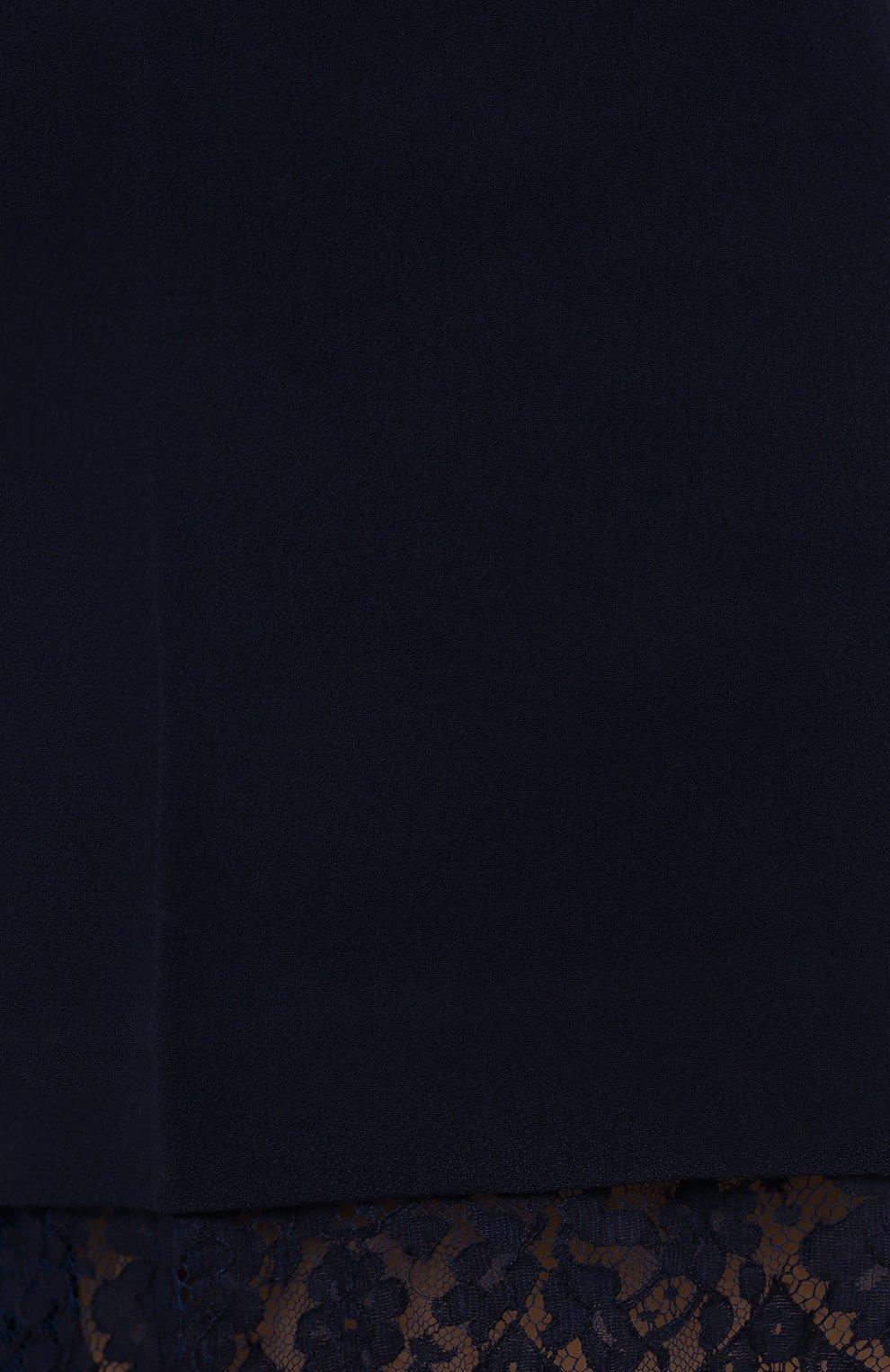 Женские шорты ERMANNO FIRENZE синего цвета, арт. D38ET PC06CRE | Фото 5 (Женское Кросс-КТ: Шорты-одежда; Длина Ж (юбки, платья, шорты): Мини; Материал внешний: Синтетический материал, Вискоза; Стили: Романтичный)