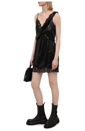 Женское платье с пайетками ERMANNO FIRENZE черного цвета, арт. D38ET AB27PAI | Фото 2