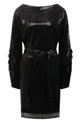 Женское платье с пайетками ERMANNO FIRENZE черного цвета, арт. D38ET AB26PAI | Фото 1