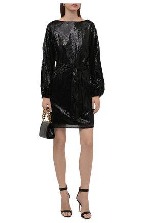 Женское платье с пайетками ERMANNO FIRENZE черного цвета, арт. D38ET AB26PAI | Фото 2
