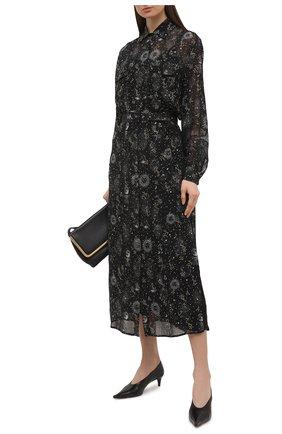 Женское платье из вискозы ERMANNO FIRENZE черного цвета, арт. D38ET AB18GFC | Фото 2