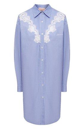 Женское хлопковое платье ERMANNO FIRENZE голубого цвета, арт. D38ET AB13RIG | Фото 1