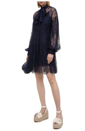 Женское платье ERMANNO FIRENZE синего цвета, арт. D38ET AB11PIZ | Фото 2