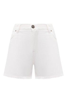 Женские джинсовые шорты TWO WOMEN IN THE WORLD белого цвета, арт. D0NY/A1HRT4 | Фото 1 (Длина Ж (юбки, платья, шорты): Мини; Материал внешний: Хлопок; Стили: Кэжуэл; Женское Кросс-КТ: Шорты-одежда; Кросс-КТ: Деним)
