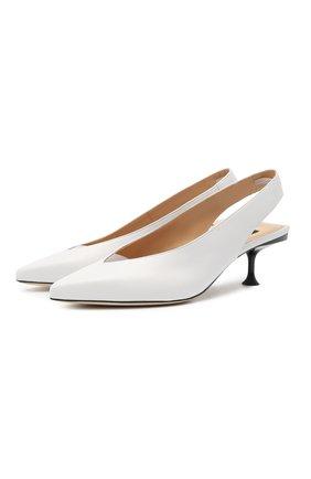 Женские кожаные туфли sr milano SERGIO ROSSI белого цвета, арт. A83470-MFN458 | Фото 1
