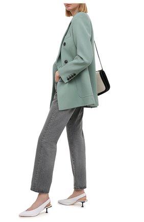 Женские кожаные туфли sr milano SERGIO ROSSI белого цвета, арт. A83470-MFN458 | Фото 2