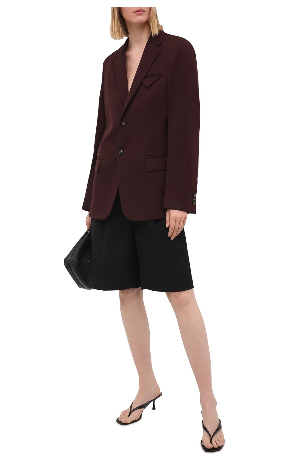 Женские кожаные мюли SERGIO ROSSI черного цвета, арт. A94450-MNAN07   Фото 2