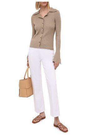 Женские замшевые шлепанцы SERGIO ROSSI коричневого цвета, арт. A94560-MCAZ01 | Фото 2