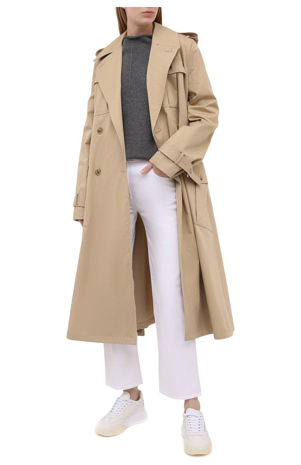 Женские текстильные кроссовки runner loop STELLA MCCARTNEY белого цвета, арт. 800145/N0071   Фото 2 (Материал внешний: Текстиль; Подошва: Платформа; Материал внутренний: Текстиль)