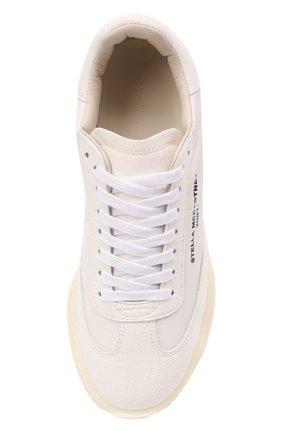 Женские текстильные кроссовки runner loop STELLA MCCARTNEY белого цвета, арт. 800145/N0071   Фото 5 (Материал внешний: Текстиль; Подошва: Платформа; Материал внутренний: Текстиль)