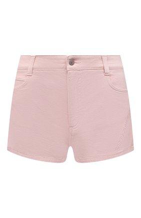 Женские джинсовые шорты STELLA MCCARTNEY розового цвета, арт. 603121/S0H32 | Фото 1 (Материал внешний: Хлопок; Длина Ж (юбки, платья, шорты): Мини; Стили: Кэжуэл; Женское Кросс-КТ: Шорты-одежда; Кросс-КТ: Деним)