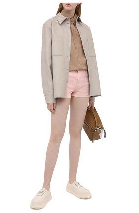 Женские джинсовые шорты STELLA MCCARTNEY розового цвета, арт. 603121/S0H32 | Фото 2 (Материал внешний: Хлопок; Длина Ж (юбки, платья, шорты): Мини; Стили: Кэжуэл; Женское Кросс-КТ: Шорты-одежда; Кросс-КТ: Деним)