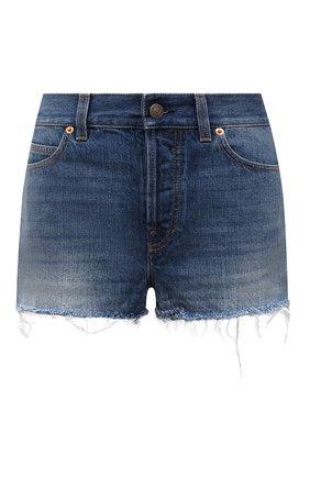 Женские джинсовые шорты disney x gucci GUCCI синего цвета, арт. 652655/XDBLD   Фото 1