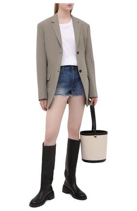 Женские джинсовые шорты disney x gucci GUCCI синего цвета, арт. 652655/XDBLD   Фото 2
