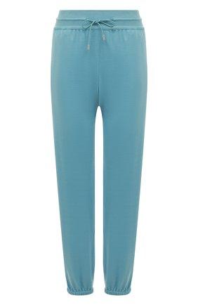 Женские шерстяные брюки LORO PIANA голубого цвета, арт. FAG2441 | Фото 1