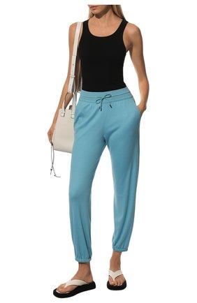 Женские шерстяные брюки LORO PIANA голубого цвета, арт. FAG2441 | Фото 2