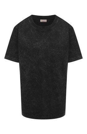 Женская хлопковая футболка BY MALENE BIRGER темно-серого цвета, арт. Q70185001/FAYEH.   Фото 1