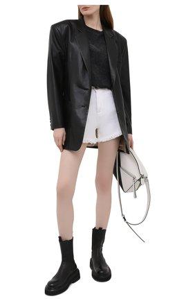 Женская хлопковая футболка BY MALENE BIRGER темно-серого цвета, арт. Q70185001/FAYEH.   Фото 2