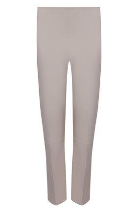 Женские кожаные брюки BY MALENE BIRGER светло-серого цвета, арт. Q66175050/FL0RENTINA   Фото 1