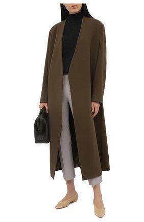 Женские кожаные брюки BY MALENE BIRGER светло-серого цвета, арт. Q66175050/FL0RENTINA   Фото 2