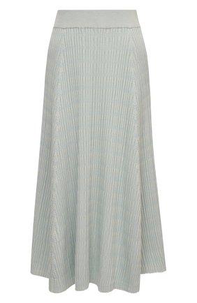 Женская юбка из шелка и хлопка PROENZA SCHOULER WHITE LABEL голубого цвета, арт. WL2127609-KS056 | Фото 1
