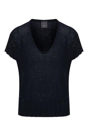 Женский хлопковый пуловер LORENA ANTONIAZZI темно-синего цвета, арт. P21119VM029/2545   Фото 1