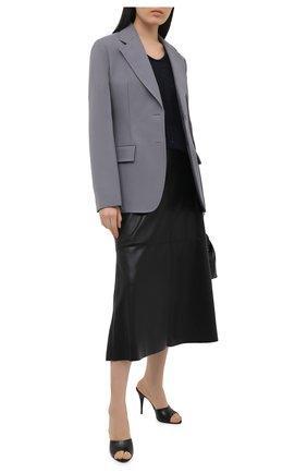 Женский хлопковый пуловер LORENA ANTONIAZZI темно-синего цвета, арт. P21119VM029/2545   Фото 2