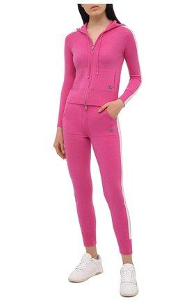 Женские брюки из шерсти и кашемира LORENA ANTONIAZZI фуксия цвета, арт. P21129PM004/1292 | Фото 2