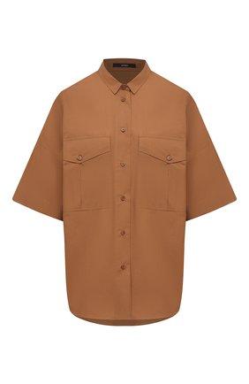 Женская хлопковая рубашка WINDSOR коричневого цвета, арт. 52 DB521H 10011495 | Фото 1