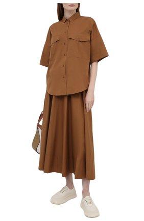 Женская хлопковая рубашка WINDSOR коричневого цвета, арт. 52 DB521H 10011495 | Фото 2