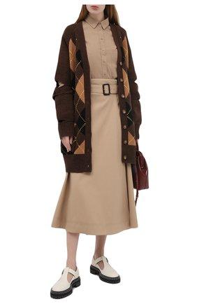 Женская хлопковая юбка WINDSOR бежевого цвета, арт. 52 DR508 10008591 | Фото 2