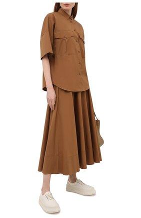 Женская хлопковая юбка WINDSOR коричневого цвета, арт. 52 DR520H 10011495 | Фото 2
