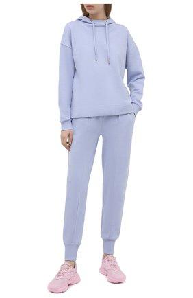 Женский хлопковое худи WINDSOR голубого цвета, арт. 52 DT407 10009492 | Фото 2