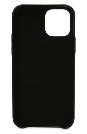 Кожаный чехол для iphone 12 pro max VETEMENTS черного цвета, арт. UE51SA170B 2471/W/BLACK NEXT PR0 MAX | Фото 2