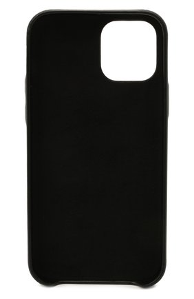 Кожаный чехол для iphone 12 pro VETEMENTS черного цвета, арт. UE51SA160B 2471/W/BLACK NEXT PR0 | Фото 2