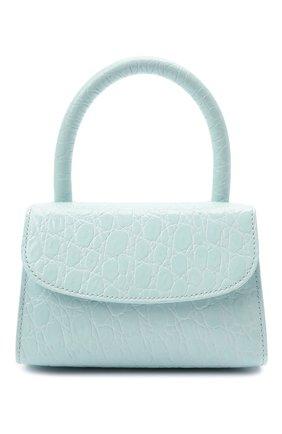 Женская сумка mini BY FAR голубого цвета, арт. 21SSMINAICECCESMA | Фото 1 (Материал: Натуральная кожа; Ремень/цепочка: На ремешке; Размер: mini; Сумки-технические: Сумки top-handle, Сумки через плечо)