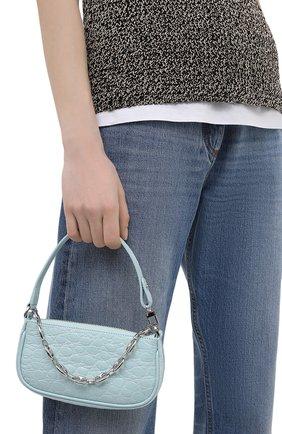 Женская сумка rachel mini BY FAR голубого цвета, арт. 21SSMIRAICECCESMA   Фото 2