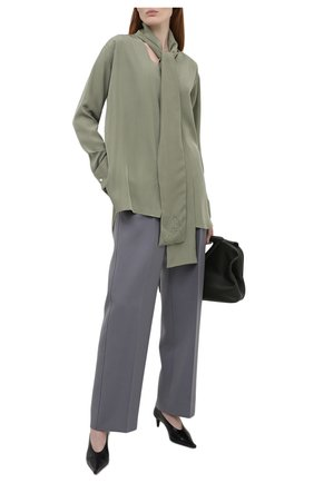 Женская шелковая блузка LOEWE светло-зеленого цвета, арт. S359337XCR | Фото 2