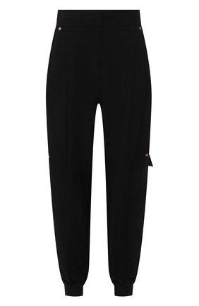 Женские брюки из вискозы и льна LOEWE черного цвета, арт. S540Y04W07   Фото 1 (Длина (брюки, джинсы): Стандартные; Материал внешний: Вискоза, Лен; Стили: Спорт-шик; Женское Кросс-КТ: Брюки-одежда; Силуэт Ж (брюки и джинсы): Джоггеры)