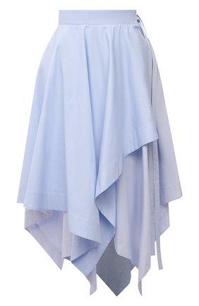 Женская хлопковая юбка LOEWE голубого цвета, арт. S540Y08X25   Фото 1